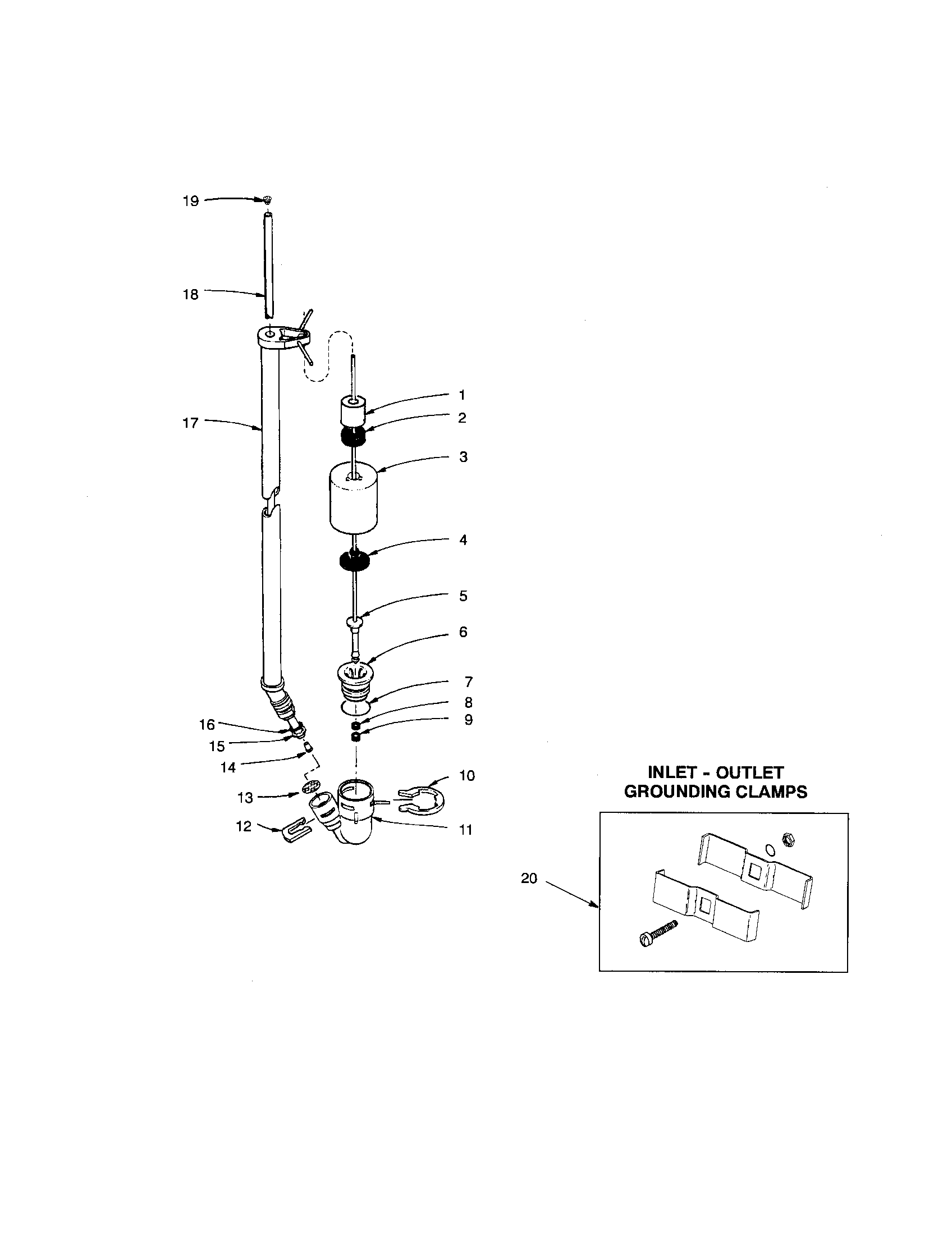 complete brine valve assembly
